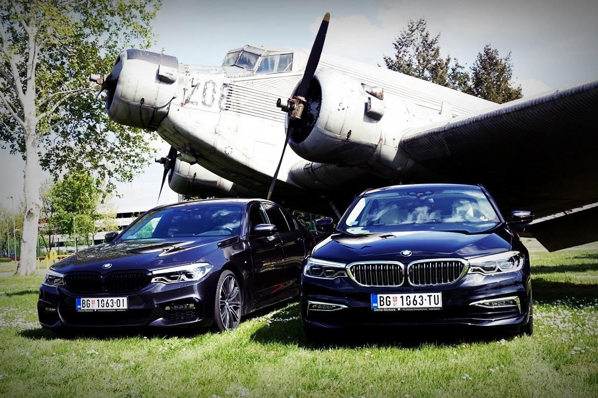 BMW 520d xDrive Luxury u paraleli sa BMW 530d xDrive M Sport
