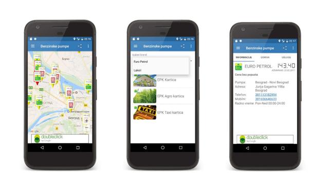 Android aplikacija Benzinske pumpe – sve cene goriva na jednom mestu