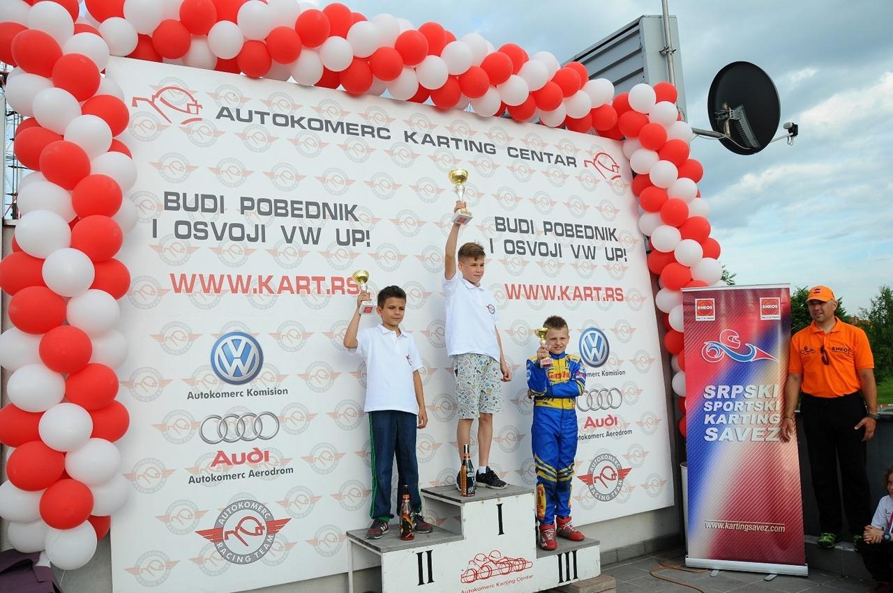 Uzbudljiv takmičarski dan na stazi Autokomerc Karting Centra