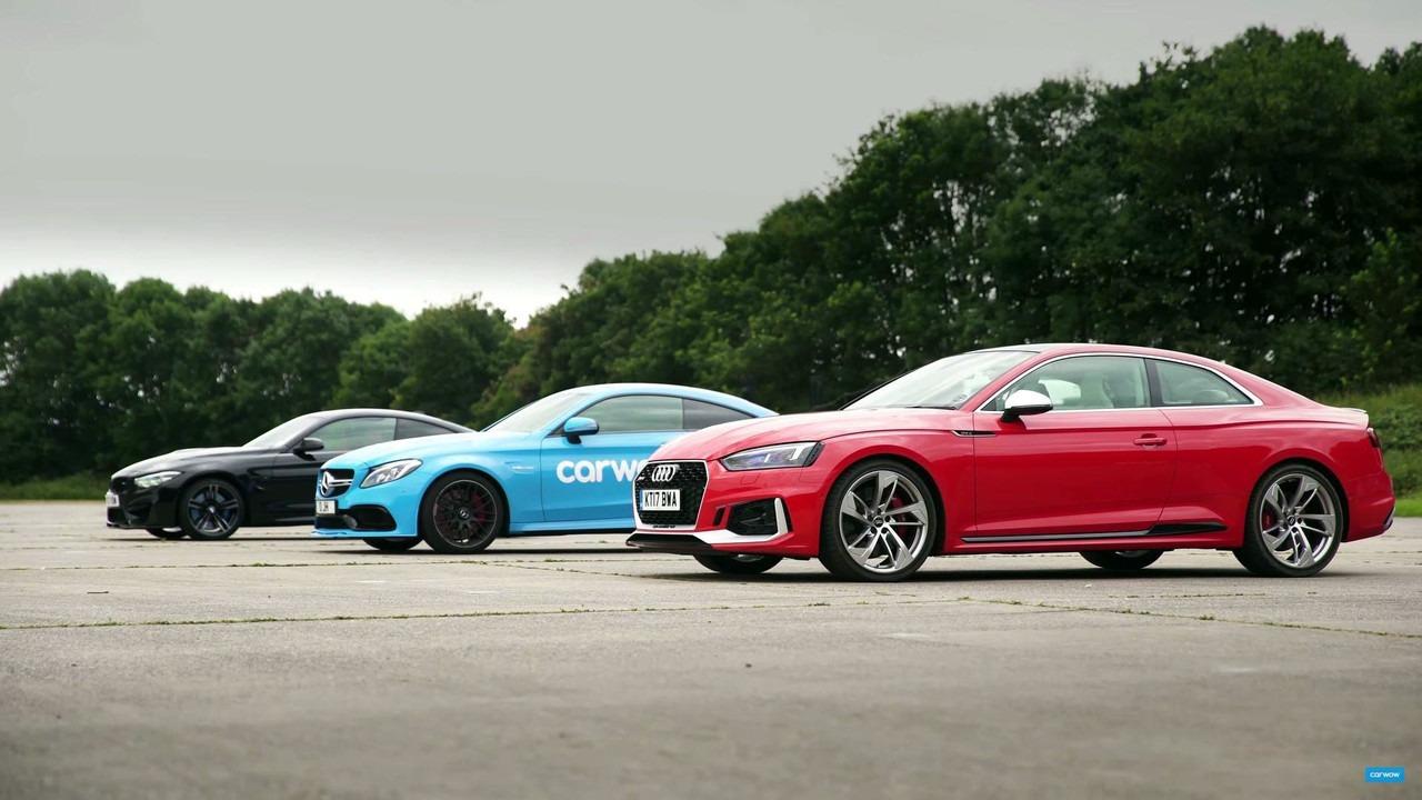 Audi RS5 vs BMW M4 vs Mercedes-AMG C63 (video)