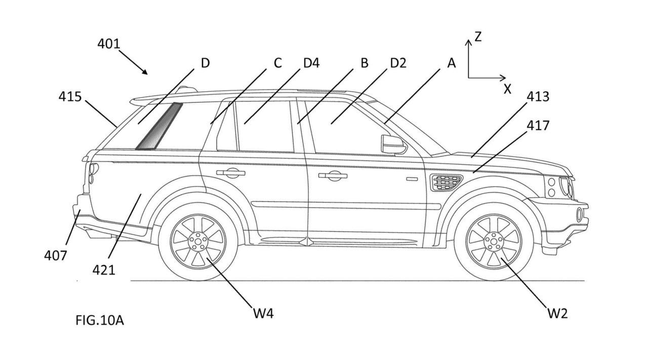 JLR patentirao aktivne aerodinamičke dodatke (galerija)