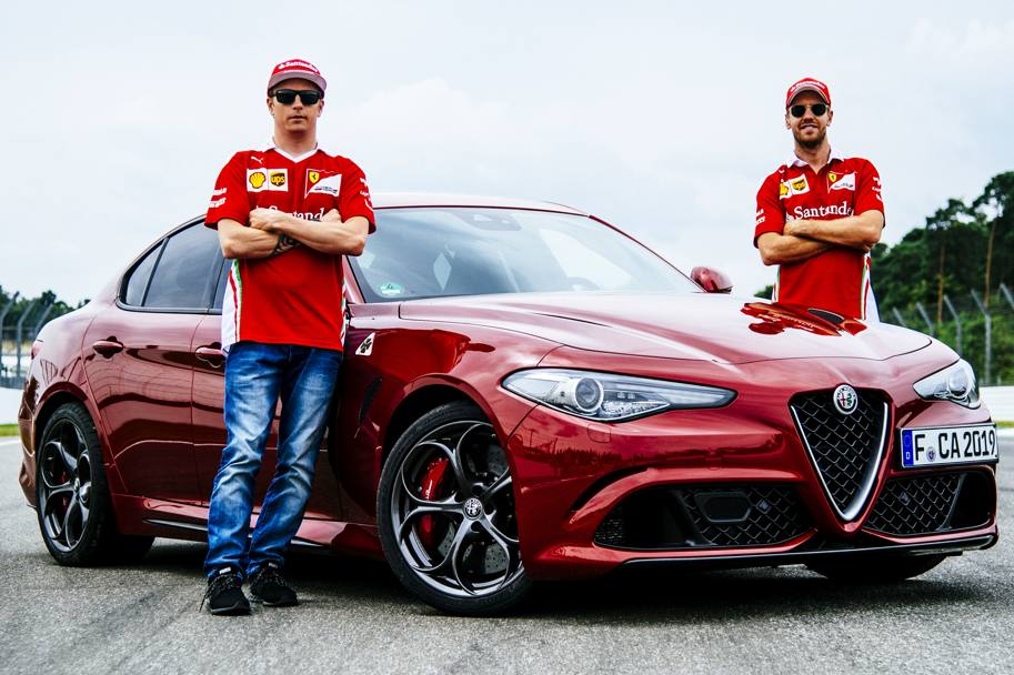 Fetel i Raikonen voze Alfa Romeo Giuliju na stazi (video)