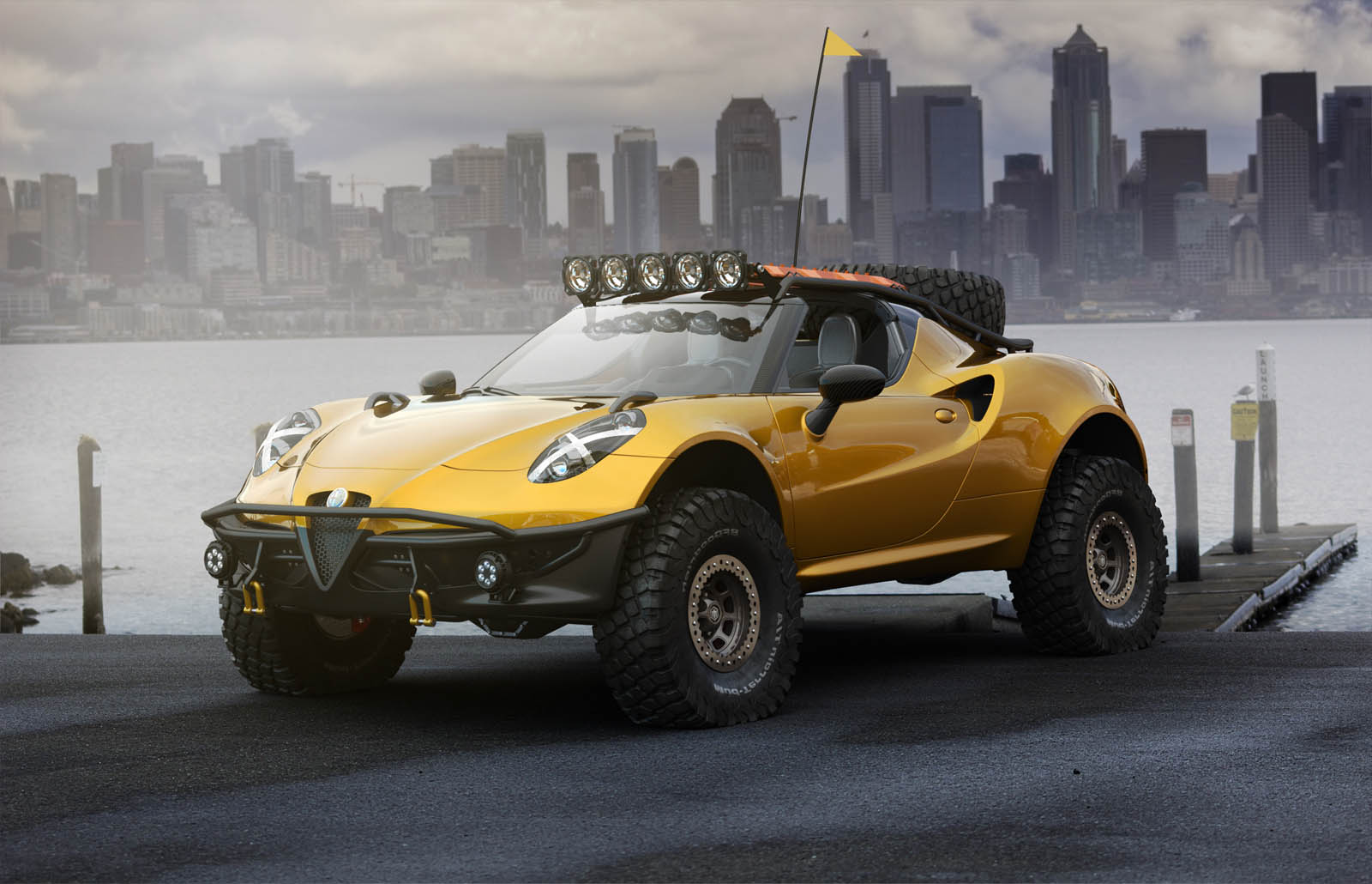 Ovako bi izgledao Alfa Romeo 4C spreman za Dakar