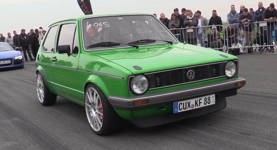 Volkswagen Golf 1 sa 455 konjskih snaga (video)