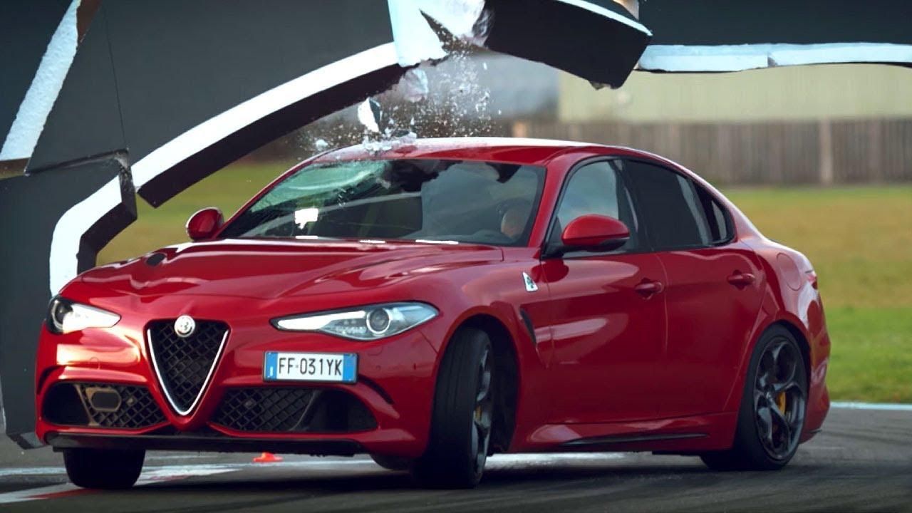 Kris Heris i Alfa Romeo Giulia Quadrifoglio u driftu kroz zid?! (video)