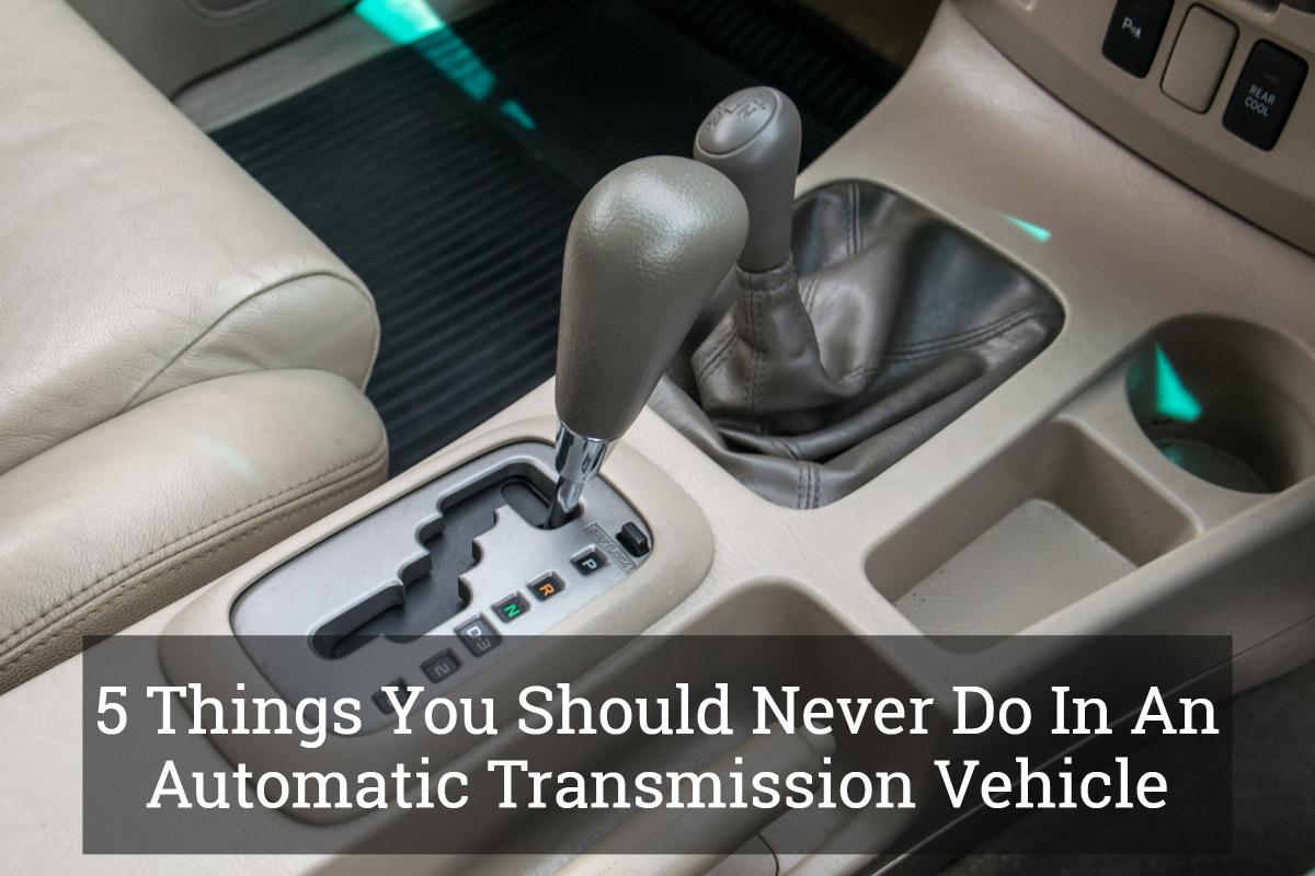 5 stvari koje ne smete raditi sa automatskim menjačem (video)