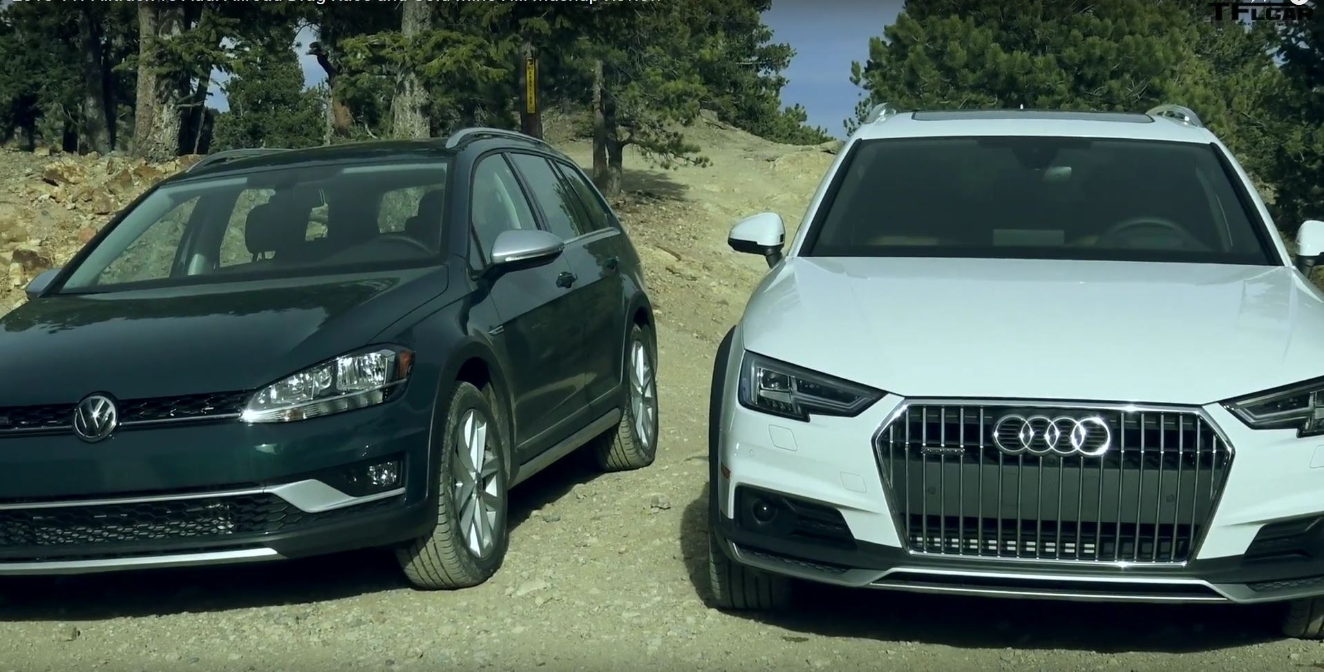 Audi A4 Allroad vs Volkswagen Golf Alltrack (video)