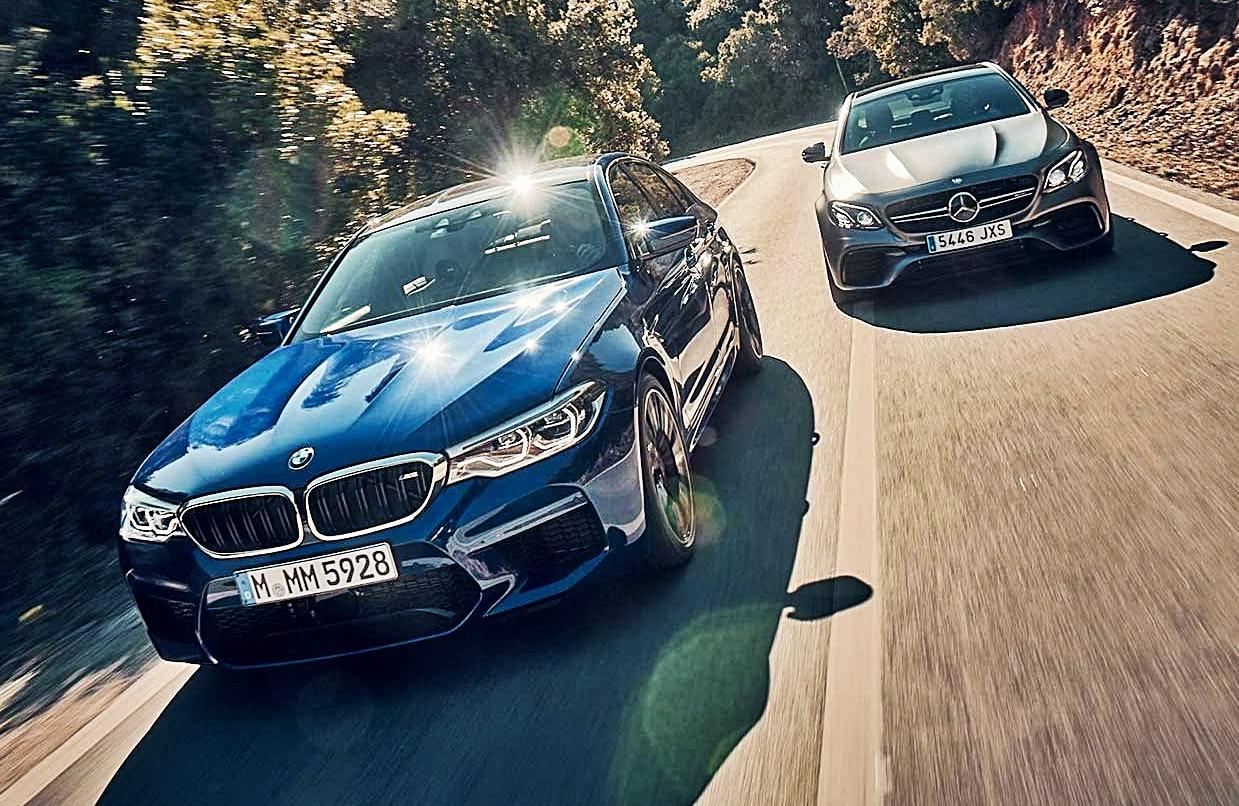 BMW M5 vs Mercedes-AMG E63S (video)