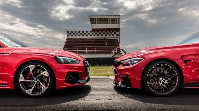 Audi RS5 vs BMW M4 (video)