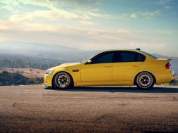 Yellow BMW M3 Nature Background Desktop Wallpaper