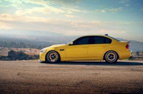 Yellow BMW M3 Nature Background Desktop Wallpaper