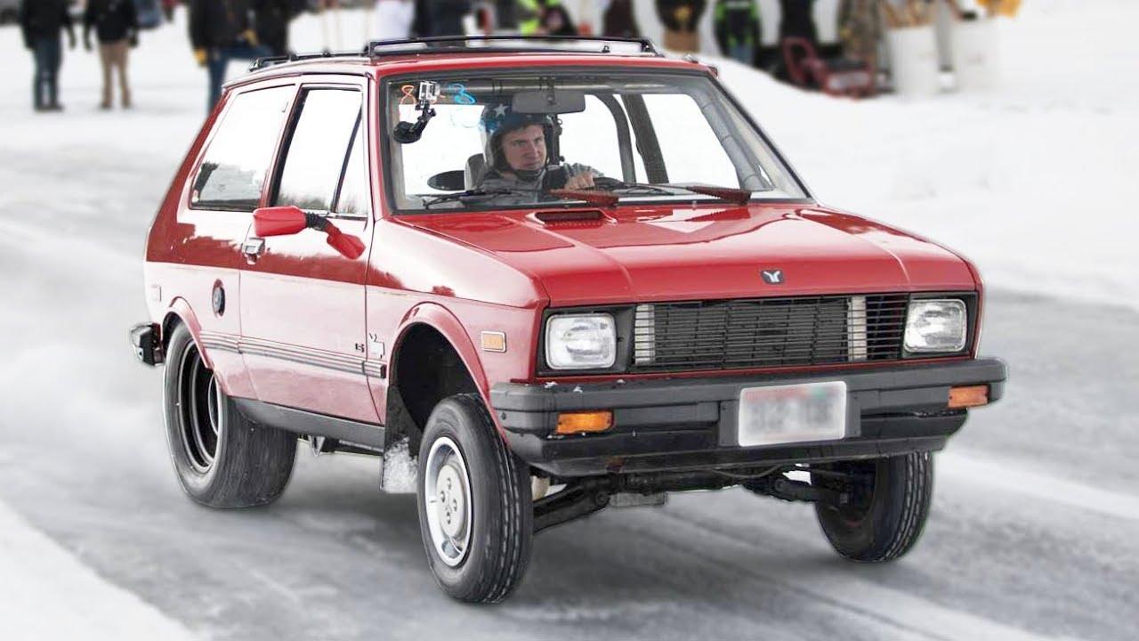 Yugo sa V8 motorom jurca po ledu (video)