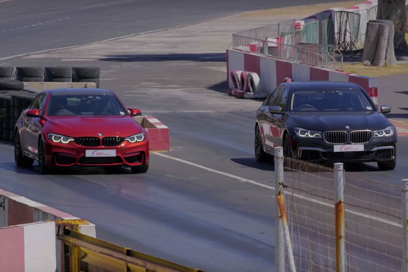 BMW M4 Competition vs BMW 760Li xDrive (VIDEO)