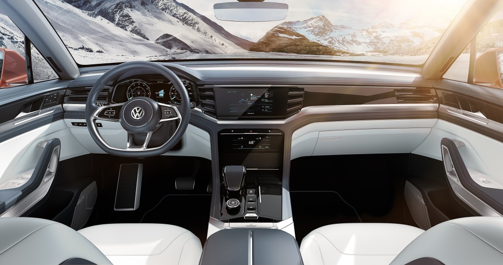 Volkswagen atlas cross sport atlas tanoak koncepti for Enterier dizajn