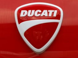 Logo of Italian motorcycle manufacturer Ducati is seen in Dietlikon
