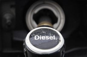 A fuel nozzle is seen at a gas station in Berlin