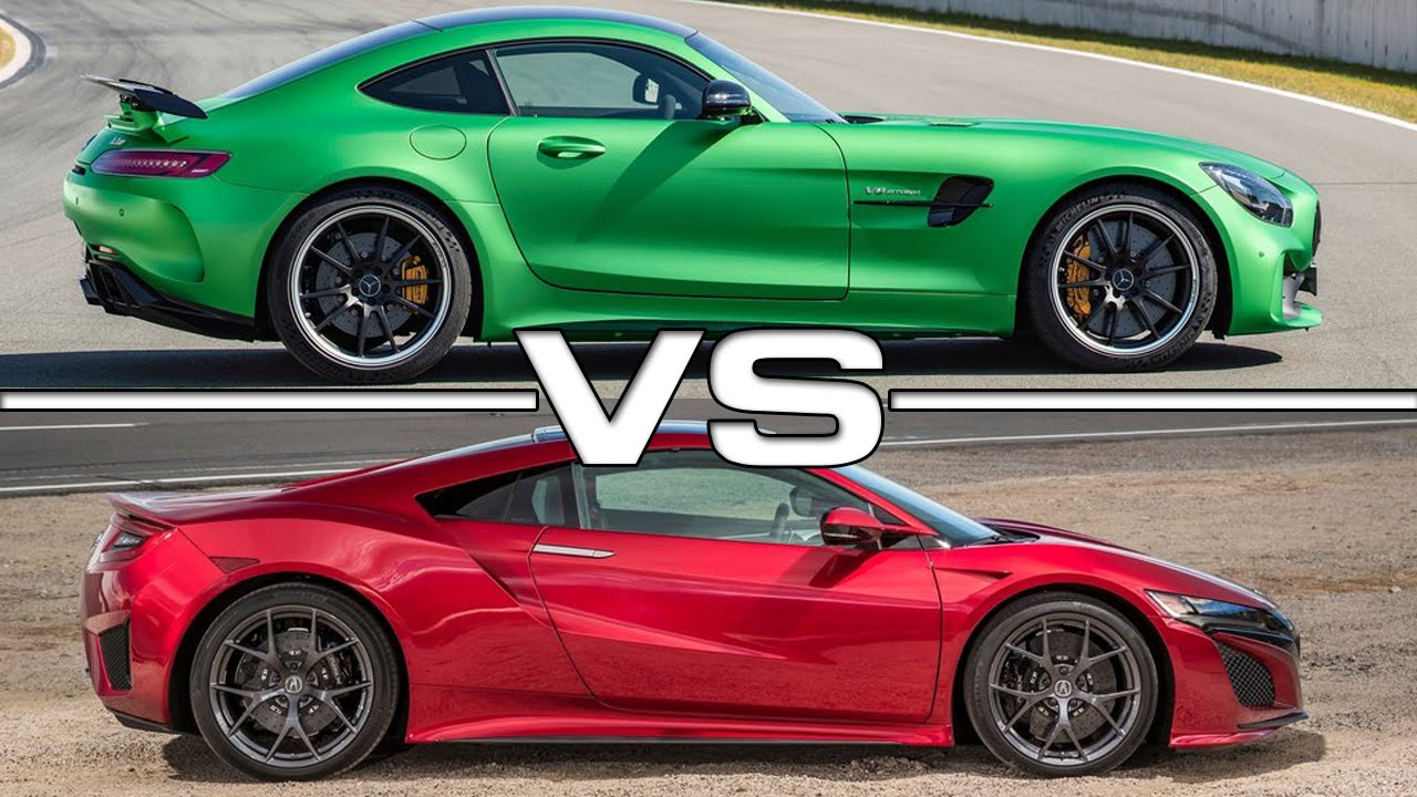 Honda NSX vs Mercedes-AMG GT R (VIDEO)