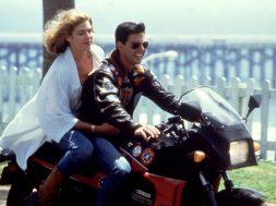 TOP GUN, Kelly McGillis, Tom Cruise, 1986, motorcycle