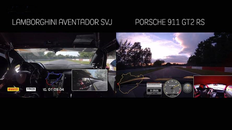 Lamborghini Aventador SVJ vs Porsche 911 GT2 RS (VIDEO)