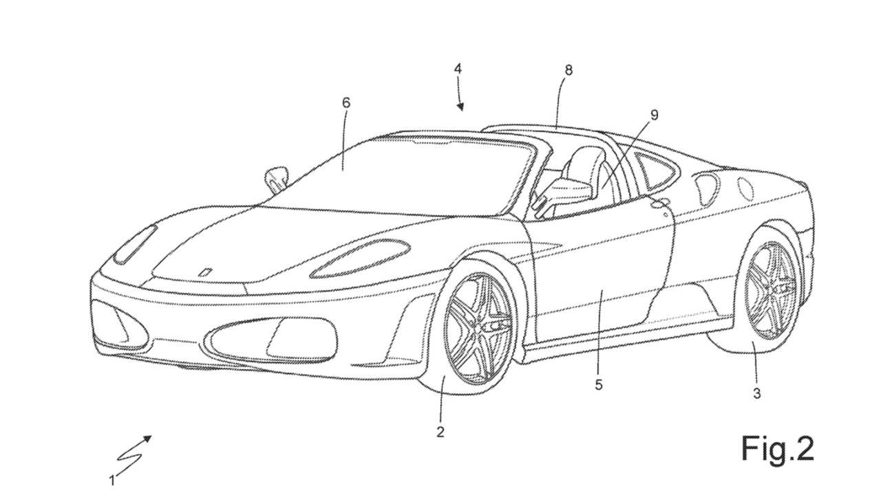 """Ferrari zaštitio patent targa krova koji """"ne mrsi kosu"""""""