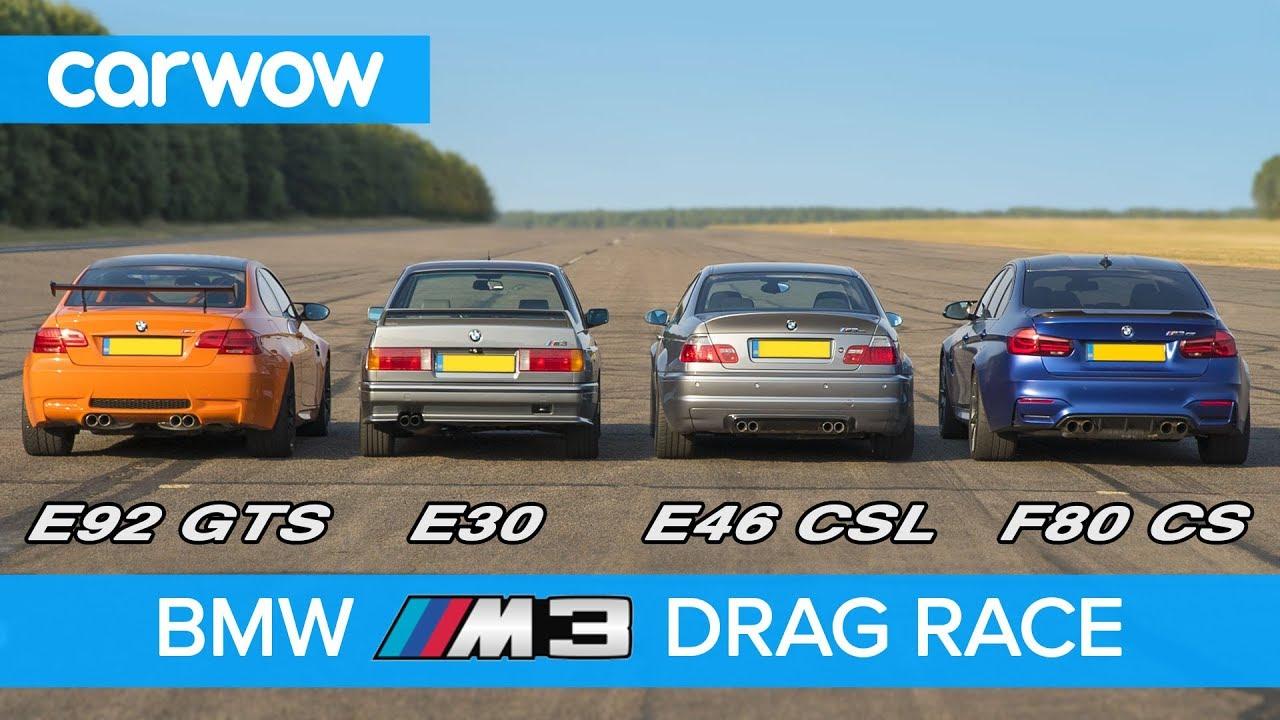 BMW M3 – trka primeraka iz četiri generacije (VIDEO)