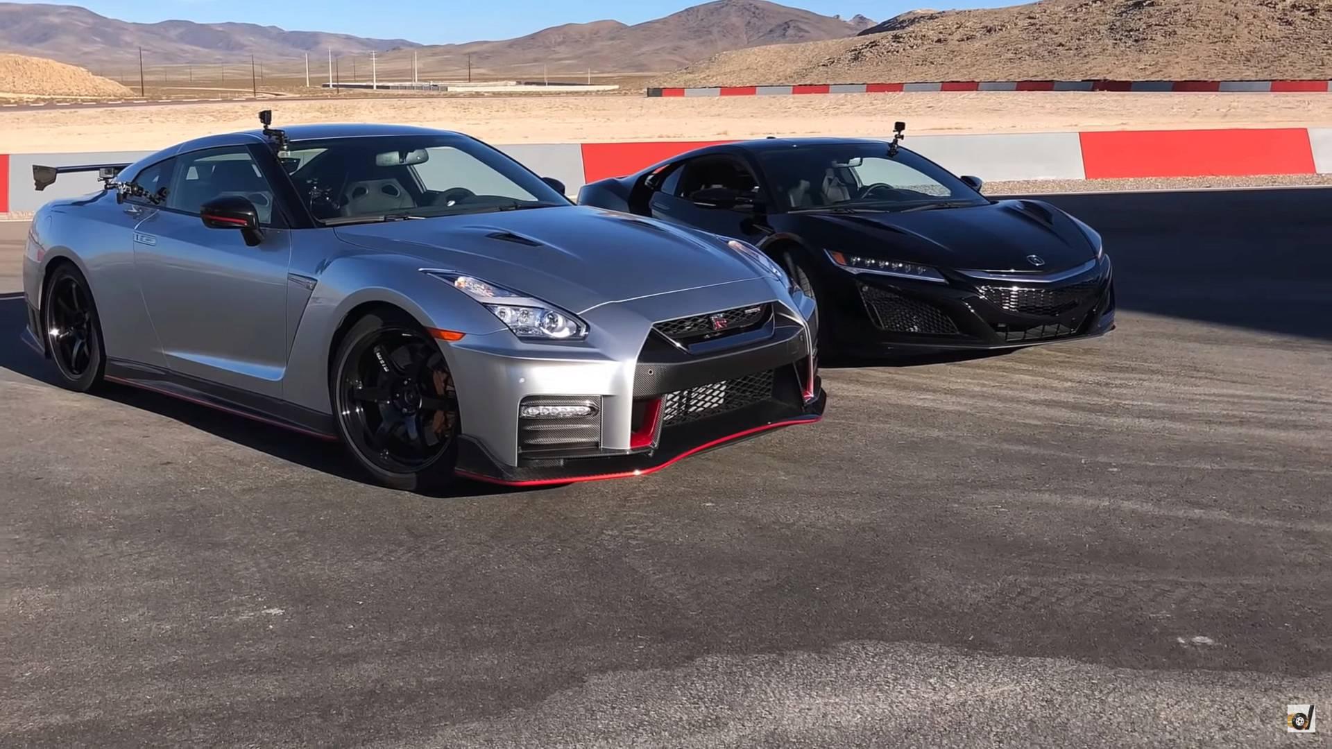 Nissan GT-R Nismo vs Acura NSX (VIDEO)