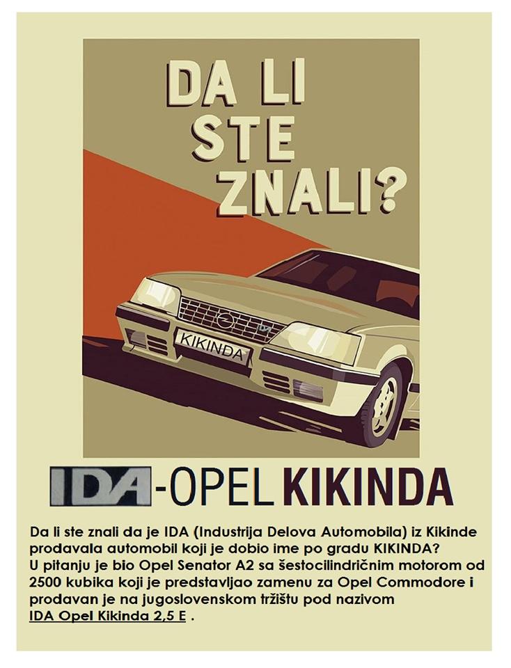 Zanimljivost dana: Da li se Opel zaista proizvodio u Kikindi?