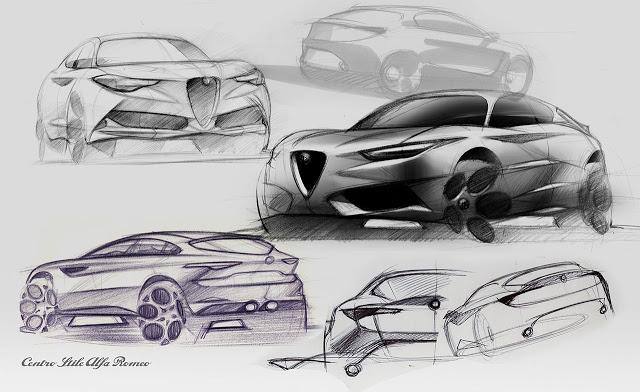 Alfa Romeo SUV koncept iz C segmenta – prvi crteži