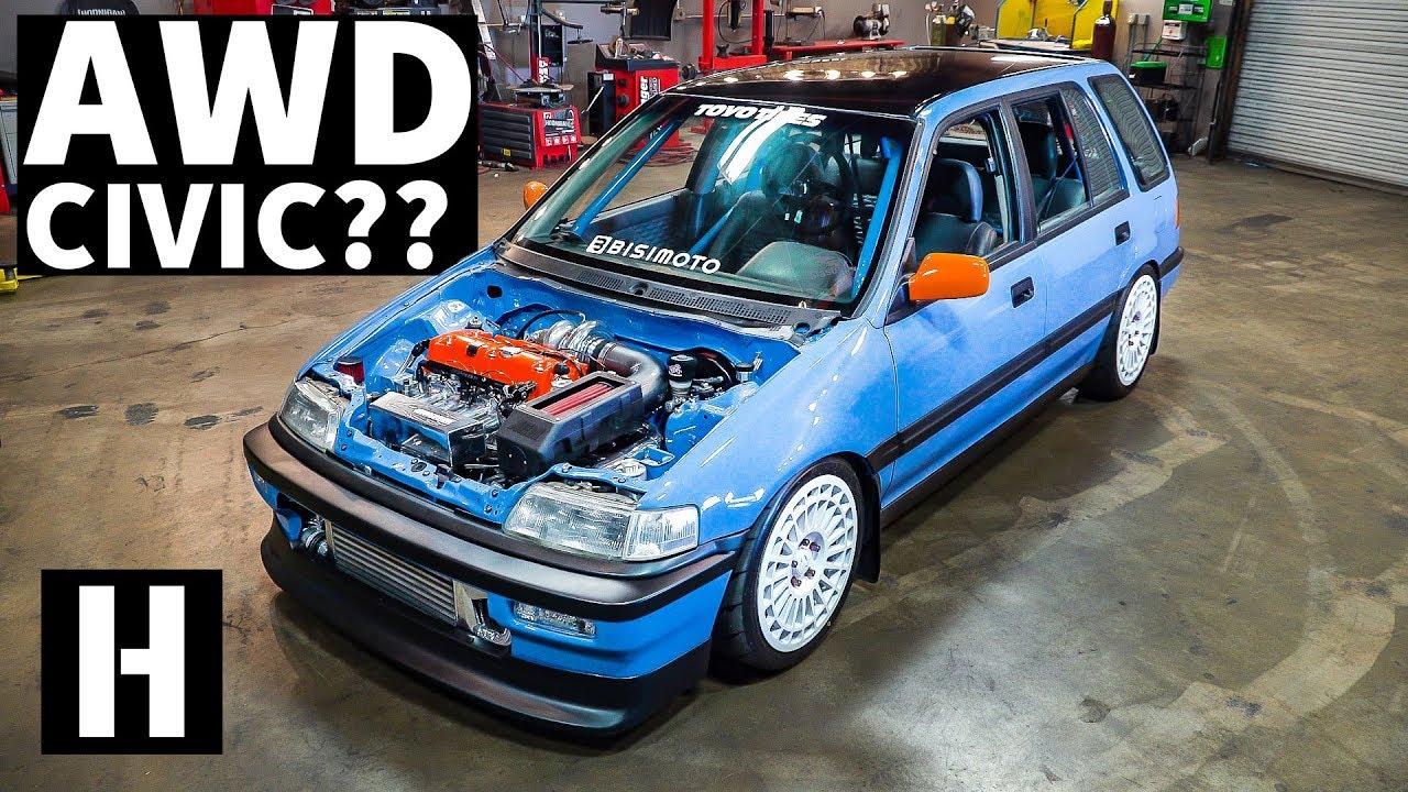 Stara Honda Civic karavan sa AWD pogonom i preko 1.000 ks (VIDEO)
