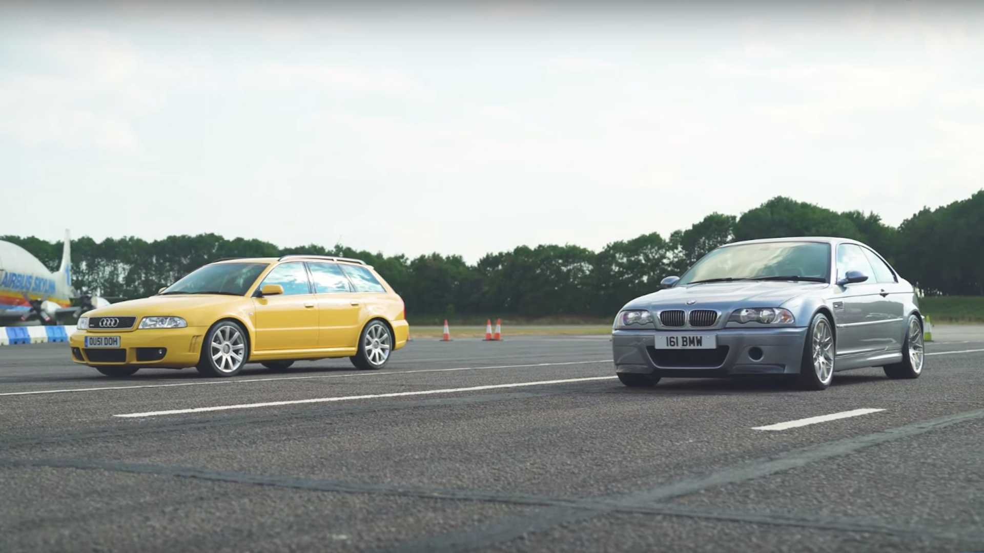 BMW E46 M3 CSL vs. Audi RS4 B5 (VIDEO)
