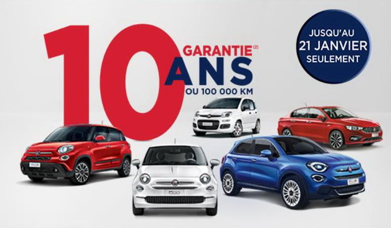 Fiat u Francuskoj odobrava desetogodišnju garanciju na celu gamu
