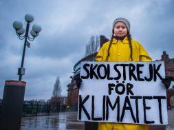 Swedish teenager Greta Thunberg during her Friday climate change protest, Stockholm, Sweden – 30 Nov 2018