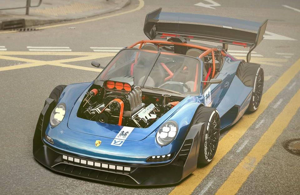 """Porsche 911 s HEMI motorom u """"nosu"""""""