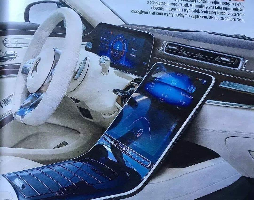 Prva fotografija enterijera nove Mercedesove S klase