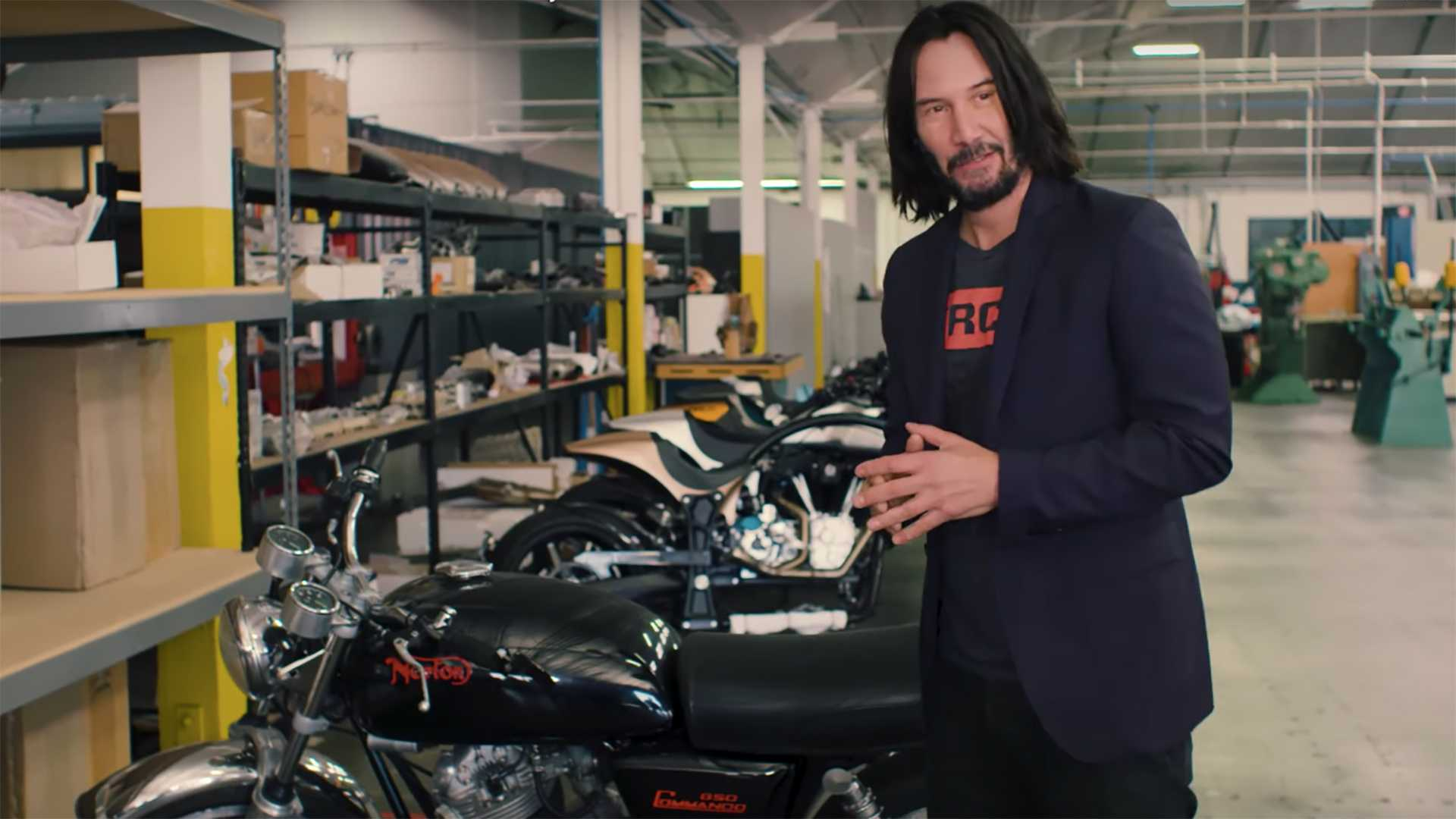 Kijanu Rivs i njegova kolekcija motocikala (VIDEO)