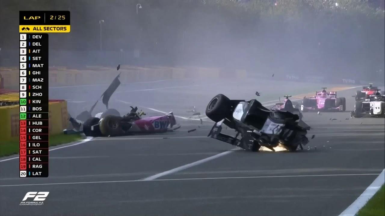 Velika tragedija u trci Formule 2 u Belgiji (VIDEO)