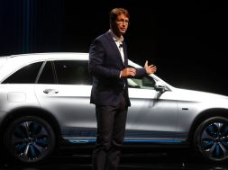 Kaellenius, a board member of Daimler AG presents the new Mercedes GLC F-CELL during the Frankfurt Motor Show (IAA) in Frankfurt