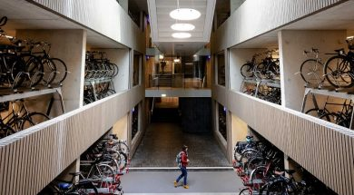 Opening of the largest bicycle parking facility in the world, Utrecht, Netherlands – 19 Aug 2019