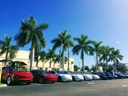 Tesla-Model-3-S-X-Fleet-Red-White-Blue-Supercharging-Florida-National-Drive-Electric-Week-Alpaca