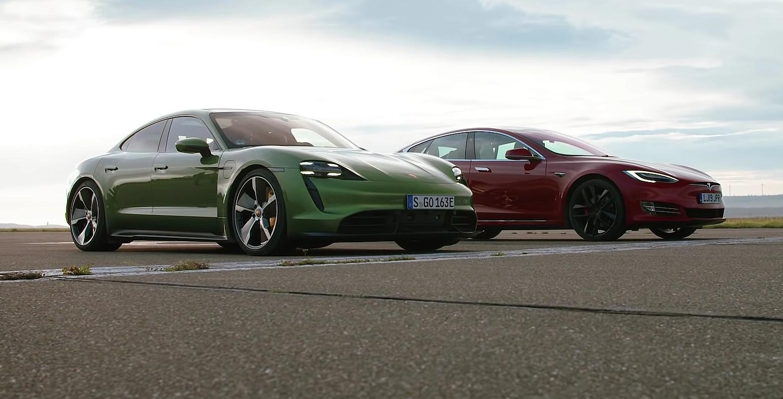 Tesla Model S Performance vs Porsche Taycan Turbo S (VIDEO)
