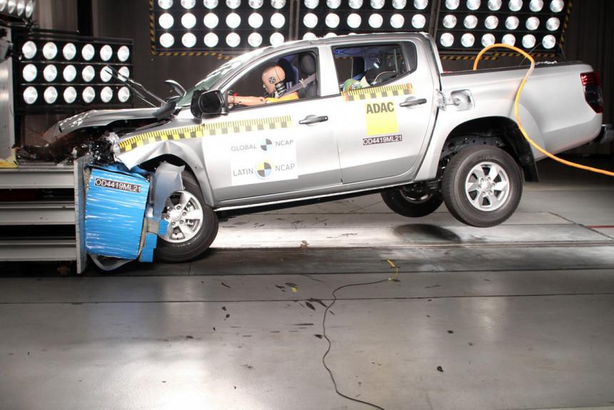 Mitsubishi L200s nula zvezdica na testu bezbednosti