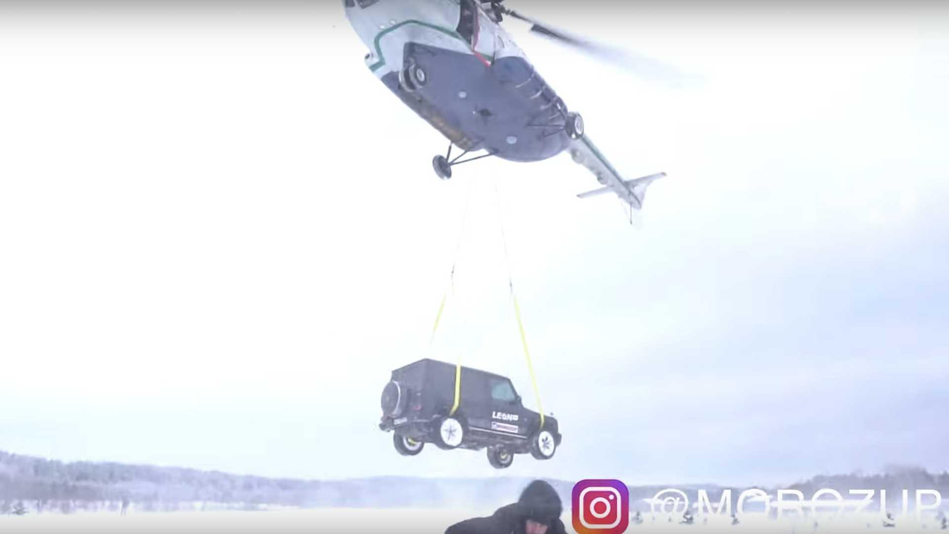 Nezadovoljan vlasnik Mercedes-AMG-a G63 bacio vozio na tlo s 300 metara visine (VIDEO)