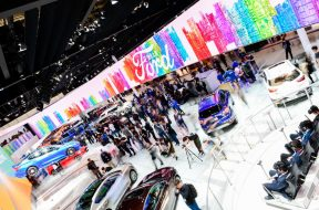Media and guests visit the Ford stand at Auto China 2018-01